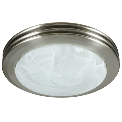 Saturn Decorative Bath Fan with Light in Brushed Nickel