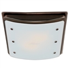 Ellipse Bathroom Fan with Light and Nightlight - Imperial Bronze Frame (90065)