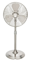 "16"" Oscillating Stand Fan in Brushed Nickel (90438)"