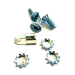 1967-81 Camaro Door Latch Screw and Clip Set