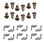 1967-81 Camaro Door Panel Plug & Clip Set - 24-pc