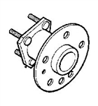 Saab 9.3 99-02 REAR WHEEL BEARING 4839122