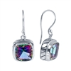 Sterling Silver Square Mystic Topaz Earrings