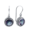 Sterling Silver Round Mystic Topaz Earrings