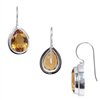 Sterling Silver Citrine Teardrop Earrings