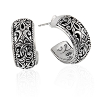 Sterling Silver Bali Hoop Earrings