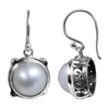 Sterling Silver Mabe Pearl Earrings