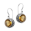 Sterling Silver Citrine Dangle Earrings