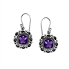 Sterling Silver Faceted Amethyst Dangle Earrings