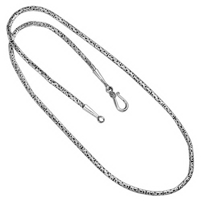 Sterling Silver Borobudur Chain Necklace