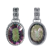 Sterling Silver Mystic Topaz Large Oval Bali Pendant