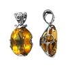 Sterling Silver Filigree Citrine Pendant