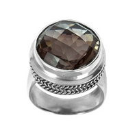 Sterling Silver Smoky Topaz Ring