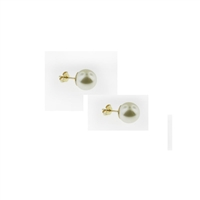 Gold Filled Shell Pearl Ball Studs-10mm