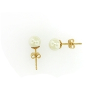 Gold Filled Shell Pearl Ball Studs-7mm