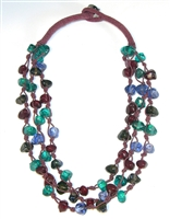 Berry Baubles Glass Necklace