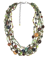 Ever Green Glass Necklace