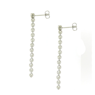 Sterling Silver Diamond-Cut Dangle Earrings