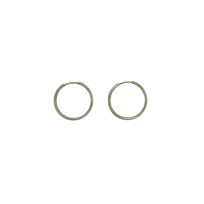 Sterling Silver Hoop Earrings-18mm
