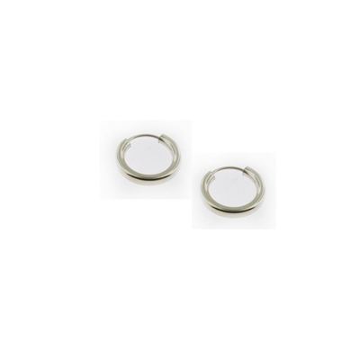 Sterling Silver Hoop Earrings-13mm