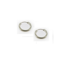 Sterling Silver Hoop Earrings-15mm