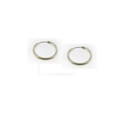 Sterling Silver Hoop Earrings-19mm
