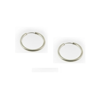 Sterling Silver Hoop Earrings-21mm