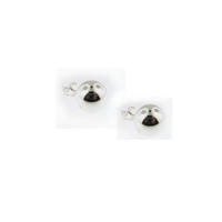 Sterling Silver Ball Stud Earrings-10mm