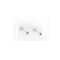 Sterling Silver Ball Stud Earrings-3mm