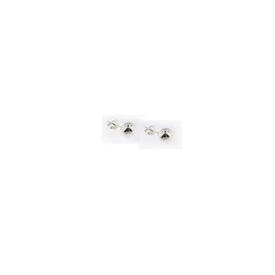 Sterling Silver Ball Stud Earrings-6mm
