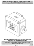 Instruction Manual MEC-O-MATIC 2400T DC