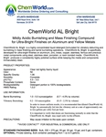 ChemWorld AL BRIGHT Technical Information