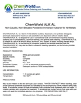 ChemWorld ALK AL Technical Information