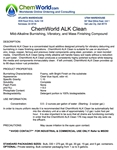 ChemWorld ALK CLEAN Technical Information