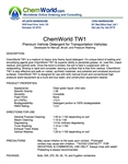 ChemWorld TW1 Technical Information