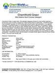 ChemWorld GREEN Technical Information