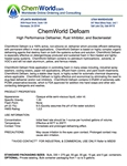 ChemWorld PAINT DEFOAM Technical Information