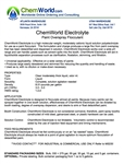 ChemWorld PAINT ELECTROLYTE Technical Information