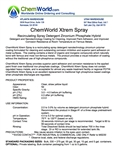 ChemWorld XTREM SPRAY Technical Information