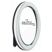 Sterling Silver Oval Photograph Frame with Wooden Back