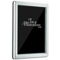 Sterling Silver Plain Rectangular Frame