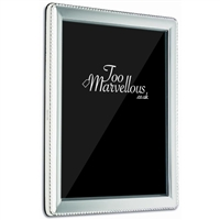 Sterling Silver Rectangular Frame with Rope Edge