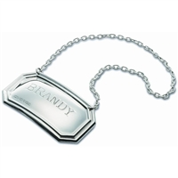 Sterling Silver Decanter Label, Simple and Stylish...