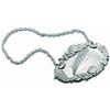 Traditional Scroll Edge Hallmarked Sterling Silver Decanter Label