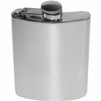 Kidney Shaped 6oz Pewter Hip Flask with Captive Top by Wentworth of Sheffield