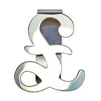 Sterling Silver 'Pound Sign' Shaped Money Clip