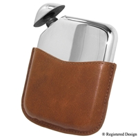 Novus Hip Flask with Leather Pouch 5.5oz