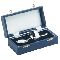 Sterling Silver Spoon and Napkin Ring Christening Gift Set