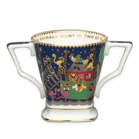 Noahs Ark English Fine Bone China Two Handled Cup