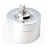 Sterling Silver First Curl or Tooth Fairy Keepsake Box with Fairy Lid